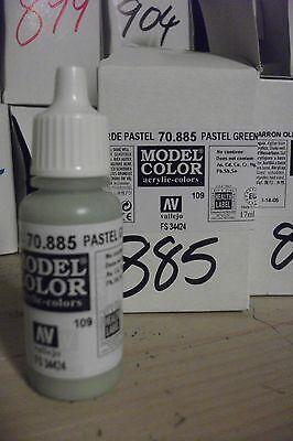Smart Modello Hobby Pittura 17ml Bottiglia Val885 Av Vallejo Color Verde Pastello Jade White Art Supplies