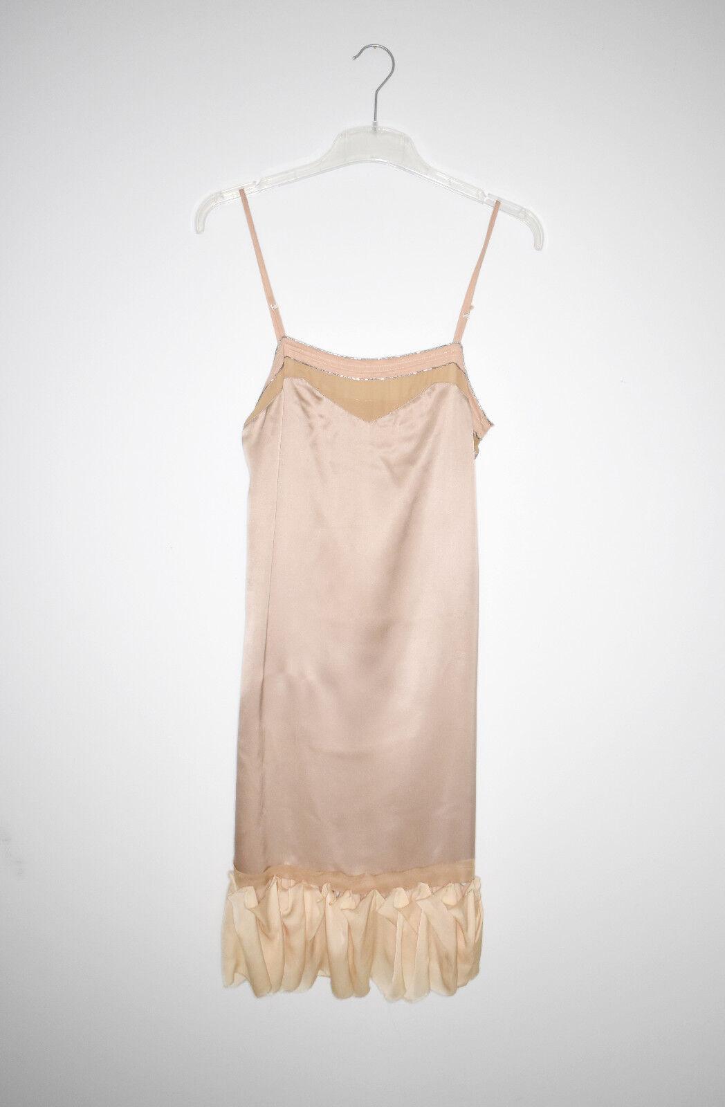 CHLOE Phoebe Philo & Stelle McCartney amazin silk dress beige SS 2005