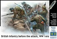 Master Box MB 1/35 35114 WWI British Infantry before the Attack w/Trench