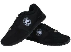 Geographical-Norway-Men-Sneakers-Oligan-Black-nere-scarpe-uomo-casual-sport