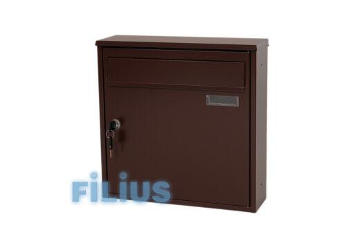 Zaunbriefkasten F1  Briefkasten RAL 8017 braun schokoladenbraun