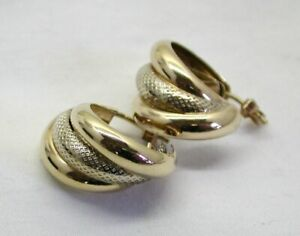 Lovely-Pair-of-Two-Colour-9-Carat-Gold-Half-Hoop-Earrings