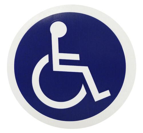 """Véhicule Autocollant Fenêtre Autocollant désactivez droit Access 4/""""x4/"""" Fauteuil roulant symbole"""