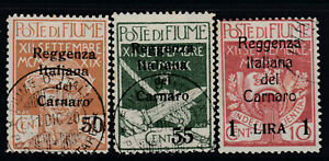 ITALY-Fiume-Sassone-n-141-143-cv-80-used