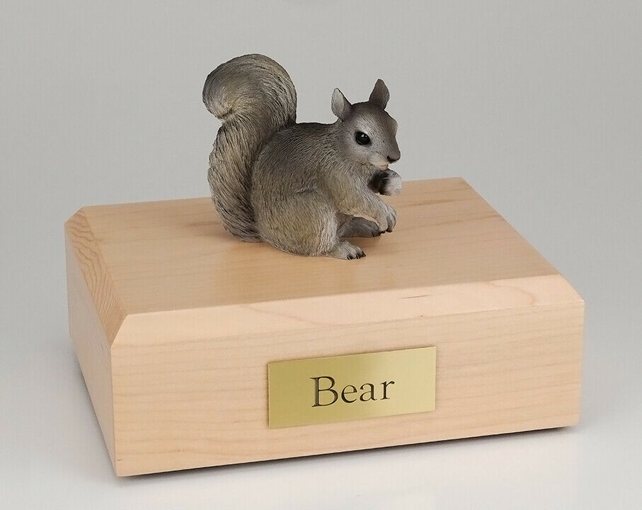 Squirrel G  Figurine Wildlife Cremation Urn Available in 3 Colors & 4 Sizes