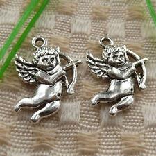 Free Ship 50 pieces tibetan silver owl charms 23x12mm #872