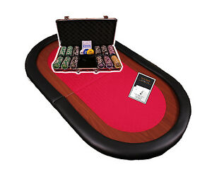 Ultimate-Home-Poker-Set-with-6-seat-Table-Top-300-Piece-Chip-Set-amp-Cards