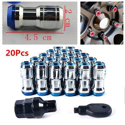 M12 X 1.5 Racing Tire Rim Lug Wheel Hub Nuts Screw 20PCS w// Tools Allen Hex Key