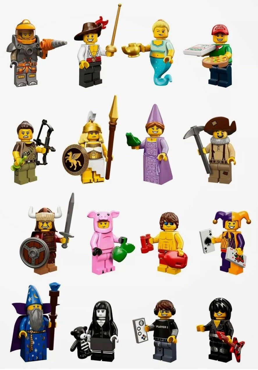 LEGO 71007 - Series 12 Minifigures - Complete Set of 16 - New