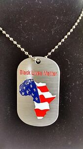 BK Tags African American 'Enough is Enough' necklace