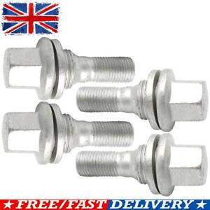 Fit For Citroen Peugeot 206 207 208 308 407 3008 17mm HEX UK Wheel Nuts Bolts x4