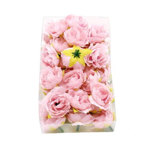 Streublüten in Box !!! 36 Kamelie Köpfe h.-rosa Seide Ø3,5cm Bastel