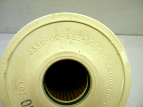Military Surplus M49A2C Tank Truck Water Segregator Filter 4330-00-983-0998 NOS