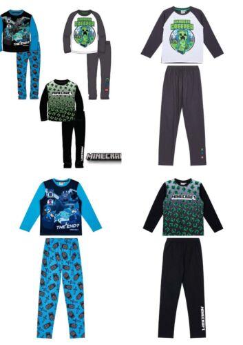 Boys Teenage Minecraft Long Pyjamas Pjs Sets Age 8-12 years