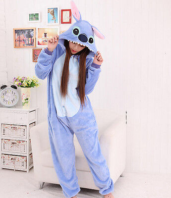 New Unisex Adult Animal Cosplay Onesies Kigurumi Pyjamas Sleepwear Onesie