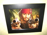 Johnny Depp Pirates Of The Caribbean Excellent Framed Signed Photograph (8x10)