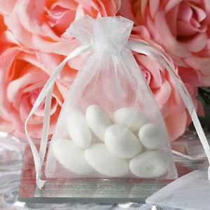 Details About 10 Pcs 3x4 White Organza Favor Bags Wedding Party Reception Gift Favors