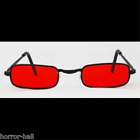Steampunk Cosplay Gothic Vampire Sun Glasses Rocker Halloween Costume-blood Red