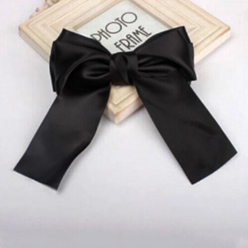 Women Girl Fashion Ribbon Big Large Bow Hairpin Hair Clip Satin Hair Accessories
