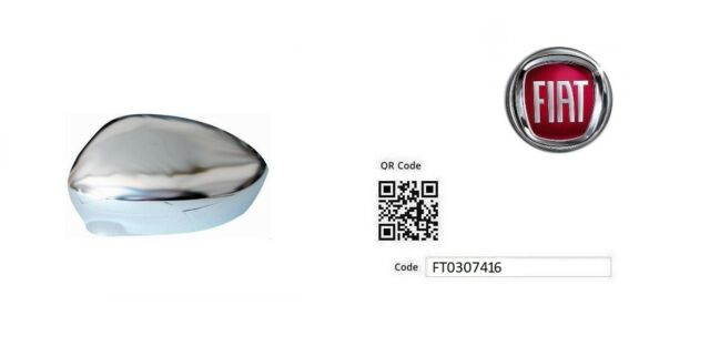FT0307416 Cubierta retrovisor SX cromo Fiat 500