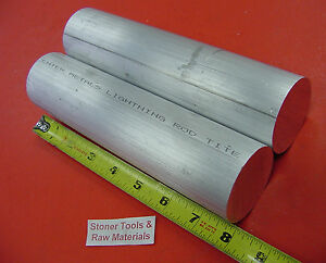 "2 Pieces 2"" ALUMINUM 6061 ROUND ROD 8"" long SOLID BAR New Lathe Stock 2.000"""