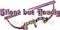 Pink Camo Silent But Deadly Bow Vinyl Decal Sticker Hunt Bear Deer Whitetail