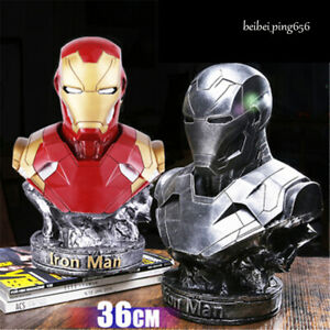 Avengers-ENDGAME-4-Iron-Man-MK46-Half-Bust-Resin-Model-Statue-Figure-Decor-Gift