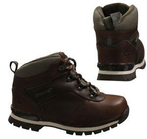 New TIMBERLAND Boots Boys Euro Rock Hiker Wheat Black Brown Kids Sale Size 7-6.5