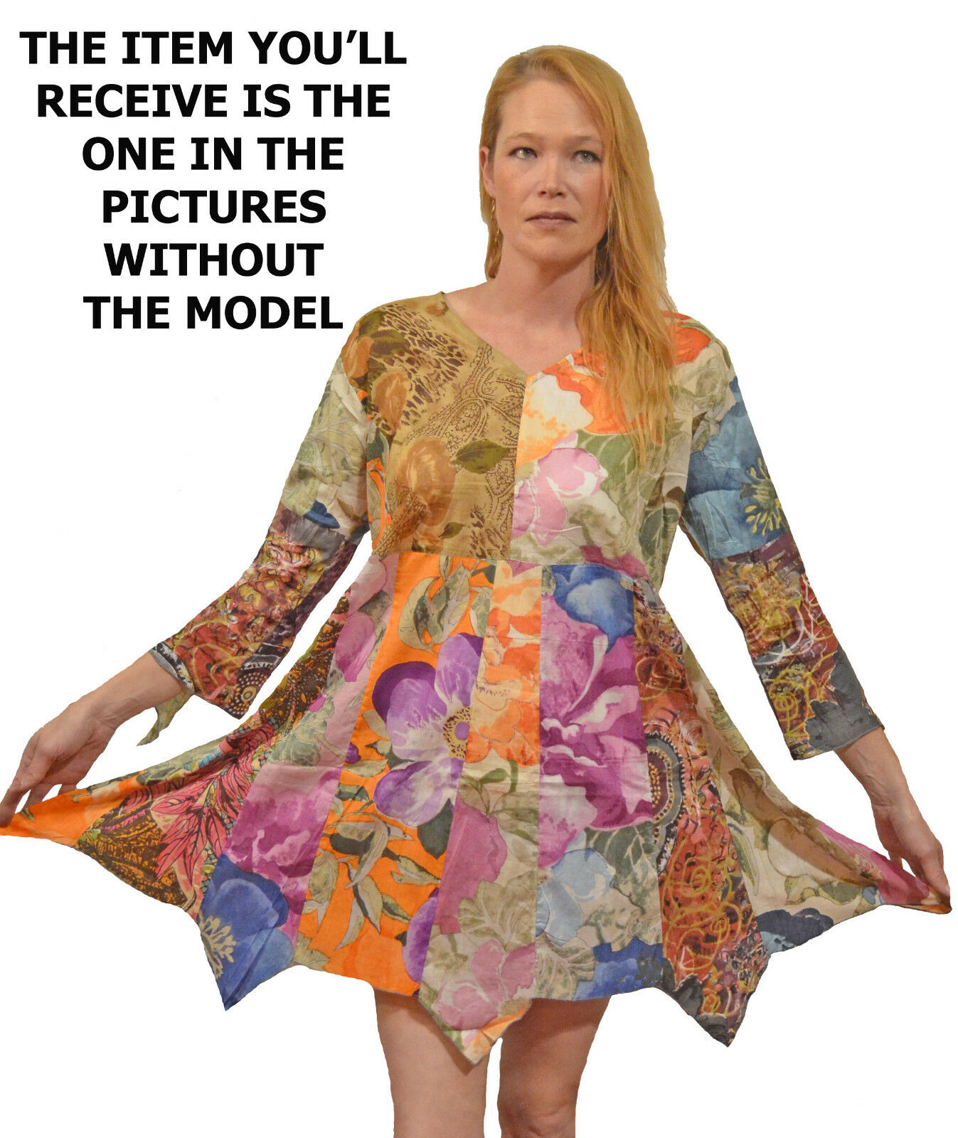FUNKY STUFF sacred threads style hanky cotton TOP TUNIC DRESS 4X 30W Free shipp