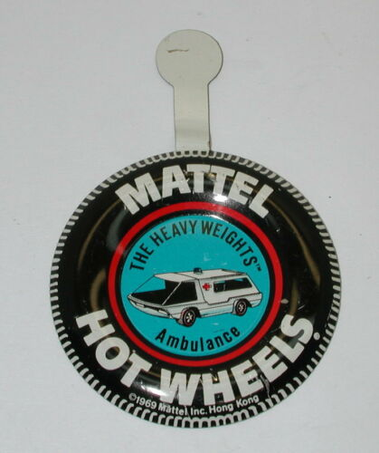 Redline Hotwheels Original Metal Button HK The Heavyweights Ambulance