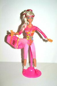 Gymnast-Barbie-Doll-1990-039-s-Original-Accessories-VGC-Gift-wrapped