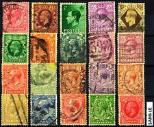 Great Britain England Old Pre 1940, 20 All Different Used Stamps