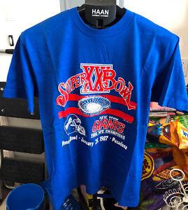 Vintage 80s 1987 New York Giants super bowl XXI champions T Shirt L ... e41b213d4
