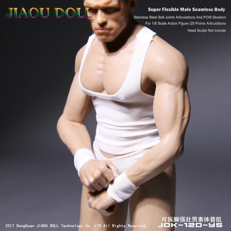 1 6 JIAOU DOLL JOK-12D-YS Steel Skeleton Detachable Foot Strong Male Body
