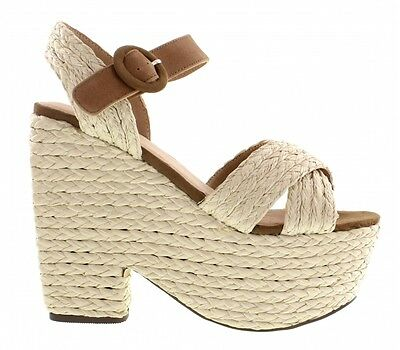 NEW SHELLYS LONDON KAAWEN Women's Woven Wedge Sandals Heels size 7, 8, 9, 10