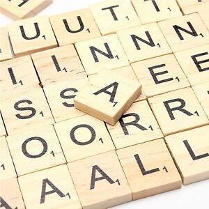 wooden scrabble tiles black letter alphabet scrabbles number crafts