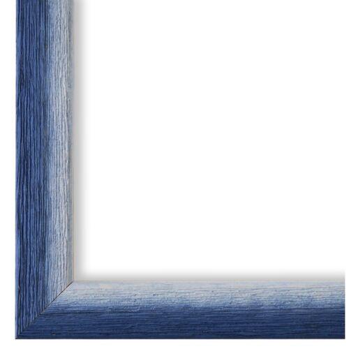 Cadre Photo Bleu Blanc Vintage Bois Pinerolo 2,3-40x60 50x50 50x60 60x60