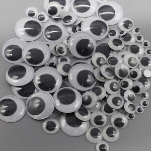 100Pcs-assortiti-Dimensione-Wiggle-Occhioni-MATTACCHIONI-autoadesivo-e-fai-da-te-Bambole-Bambini