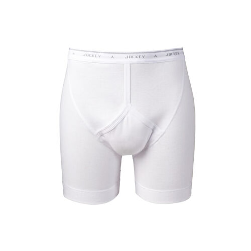 Sizes 32-46 Available White Men/'s Jockey Classic Midway Briefs
