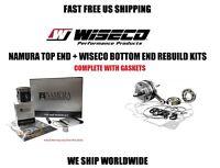 Namura Piston Kit + Wiseco Crankshaft Bottom End Engine Rebuild Banshee 350