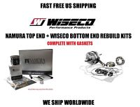 Namura Piston Kit + Wiseco Crankshaft Bottom End Engine Rebuild Banshee 350