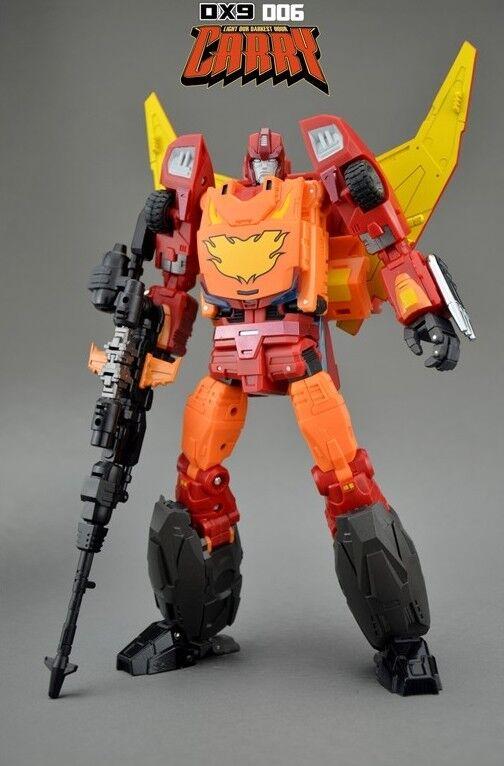Nuevo DX9 Juguetes Transformers D06 llevar Hot Rod Hot Rodimus figura menta en caja sellada en existencia