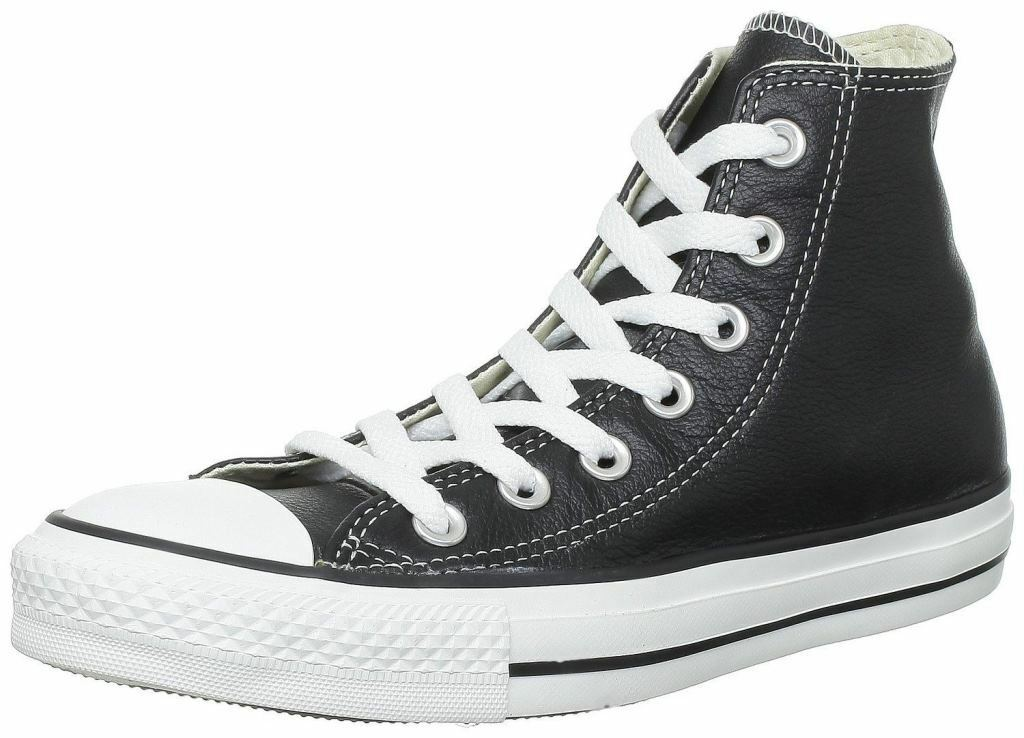 Converse Chuck Taylor All Star Black White Hi Unisex Leather Trainers