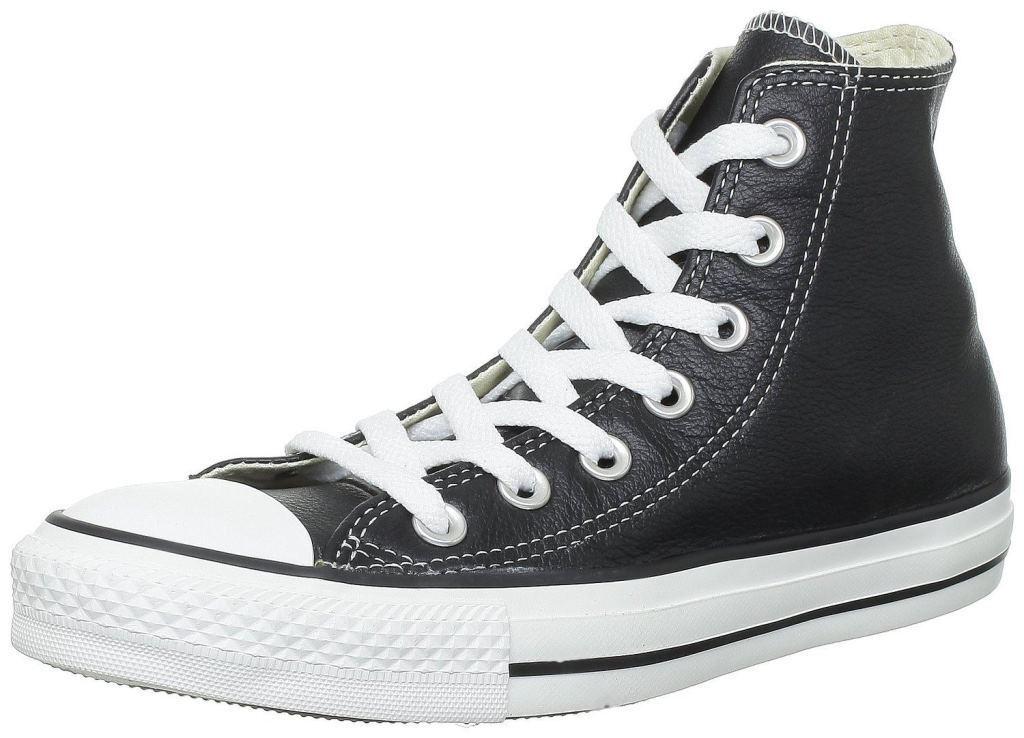 Converse Chuck Taylor todos Star Negro blancoo Hi Cuero Unisex Unisex Unisex Tenis  marca de lujo