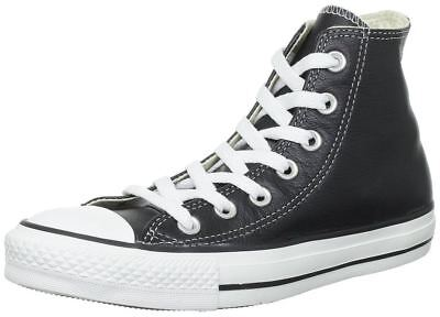 Converse Chuck Taylor Tutti Star Black White Hi Unisex Scarpe Da Ginnastica In Pelle-mostra Il Titolo Originale Vendite Economiche 50%