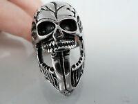 316l Stainless Steel Ring/skull Ring/gothic Ring/biker Ring 10,11,12,13 Nwt2391