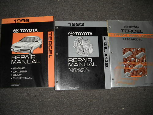1996 Toyota Tercel Service Shop Repair Manual Set Oem