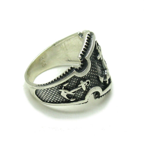 Sterling Silver Men Ring Genuine Solid 925 Anchor Perfect Quality Empress