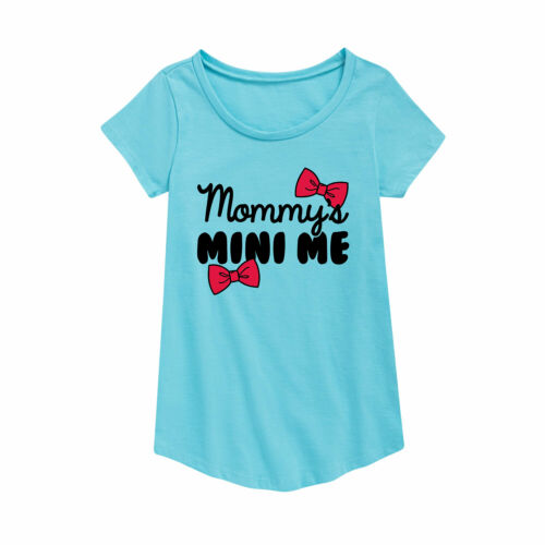 Mommy/'s Mini Me Youth Girl Short Sleeve Curved Hem Tee