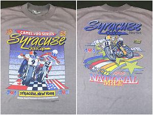 True Vintage 1986 Camel Pro Series Syracuse Gold Cup Motocross AMA T-Shirt XL